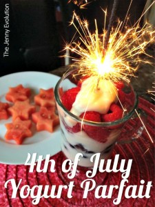 4th of July Fruit Yogurt Parfait -- Healthy and Fun!