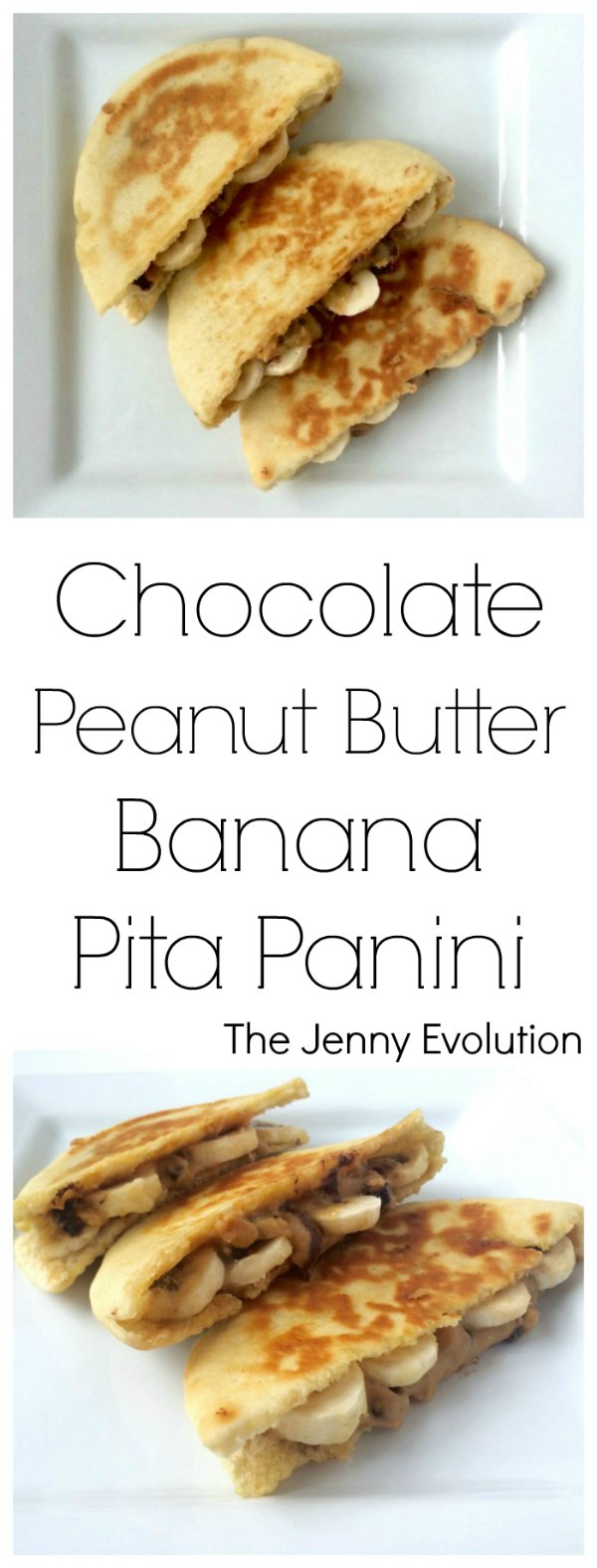 Chocolate Peanut Butter Banana Pita Panini Recipe