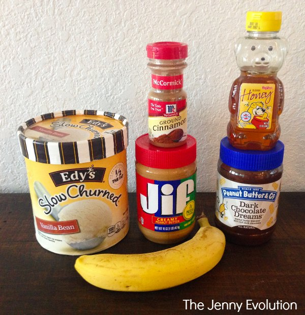 Chocolate Peanut Butter Banana Smoothie Ingredients