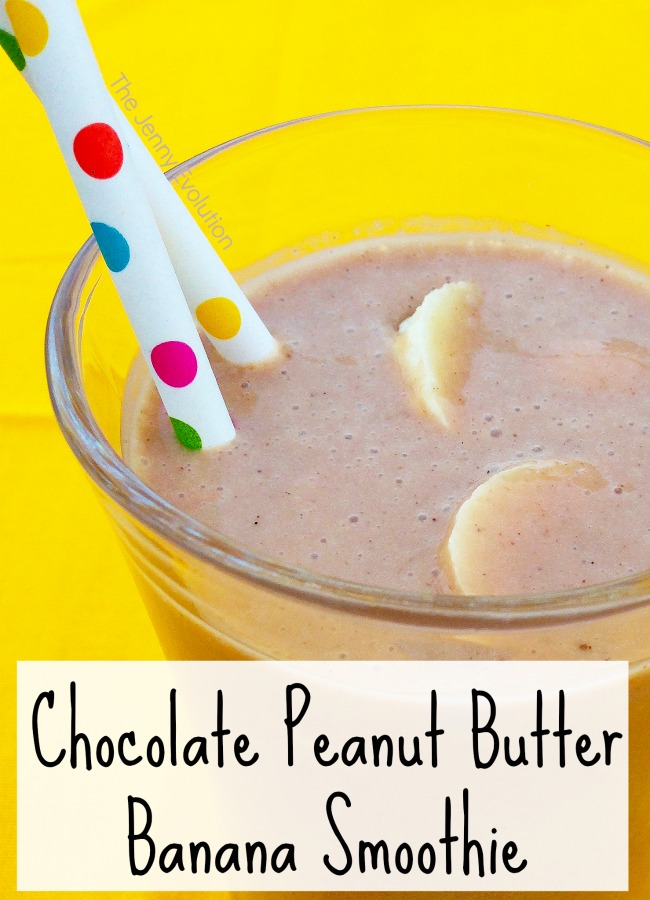 Chocolate Peanut Butter Banana Smoothie Recipe
