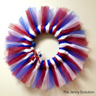 Tulle 4th of July Wreath