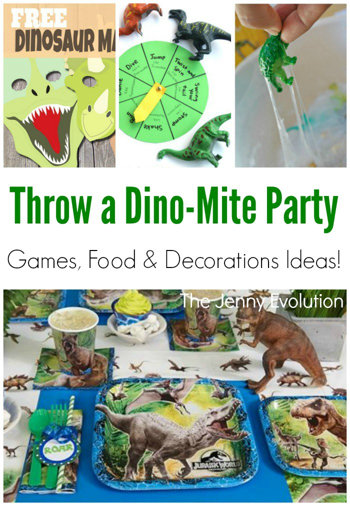 Dinosaur party birthday games decorations and fun for Amusement park decoration games
