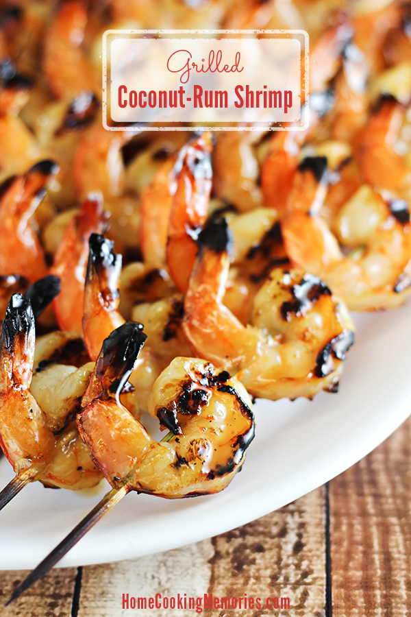 Grilled Coconut-Rum Shrimp Recipe