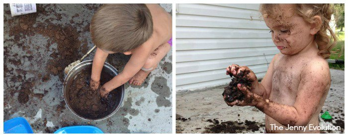 Muddy Sensory Play Exploration