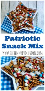 Patriotic Snack Mix Recipe - Perfect for a 4th of July picnic!