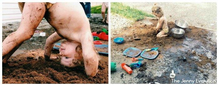 Sensory Play With Mud