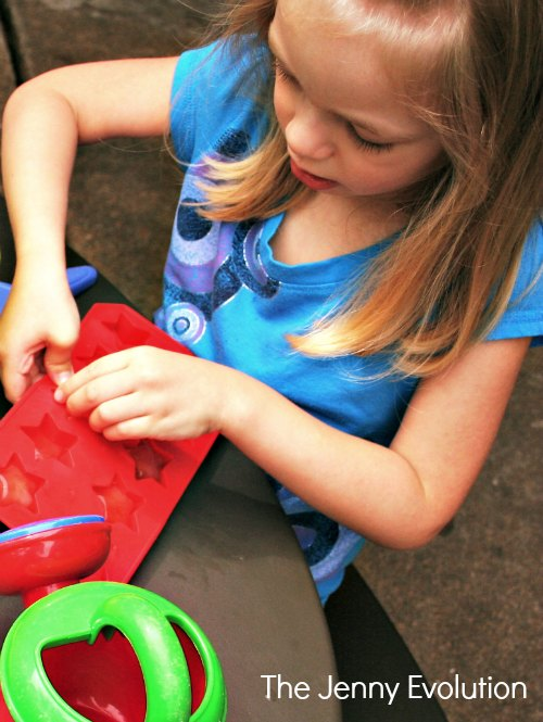 Star Ice Mold Sensory Play
