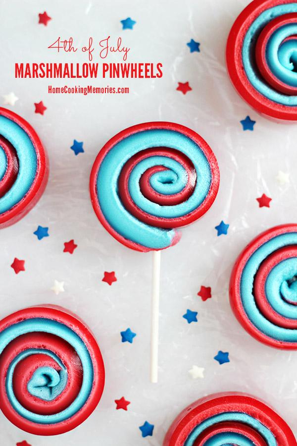 4th of July Patriotic Marshmallow Pinwheels Recipe