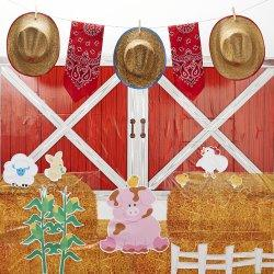 D.I.Y. Barnyard Room Decor - YeeHaw! Spend a day down on the farm for your son or daughter's next birthday!