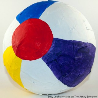 Beach Ball Craft - DIY Pinata Tutorial