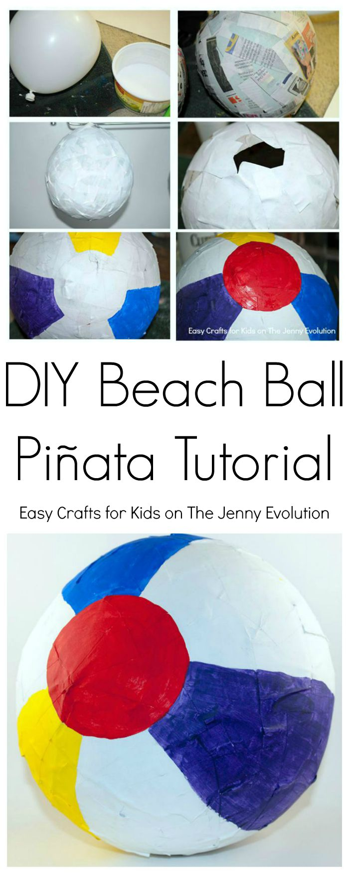 DIY Beach Ball Pinata Tutorial