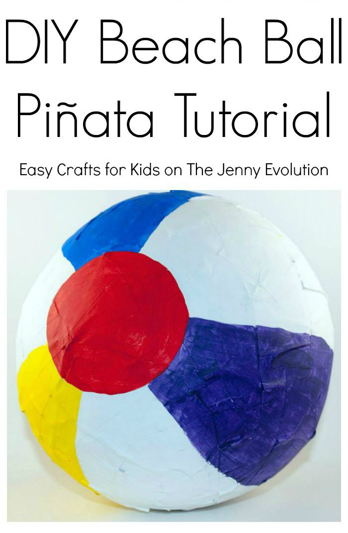 DIY Beach Ball Pinata Tutorial - Perfect idea for summer parties!