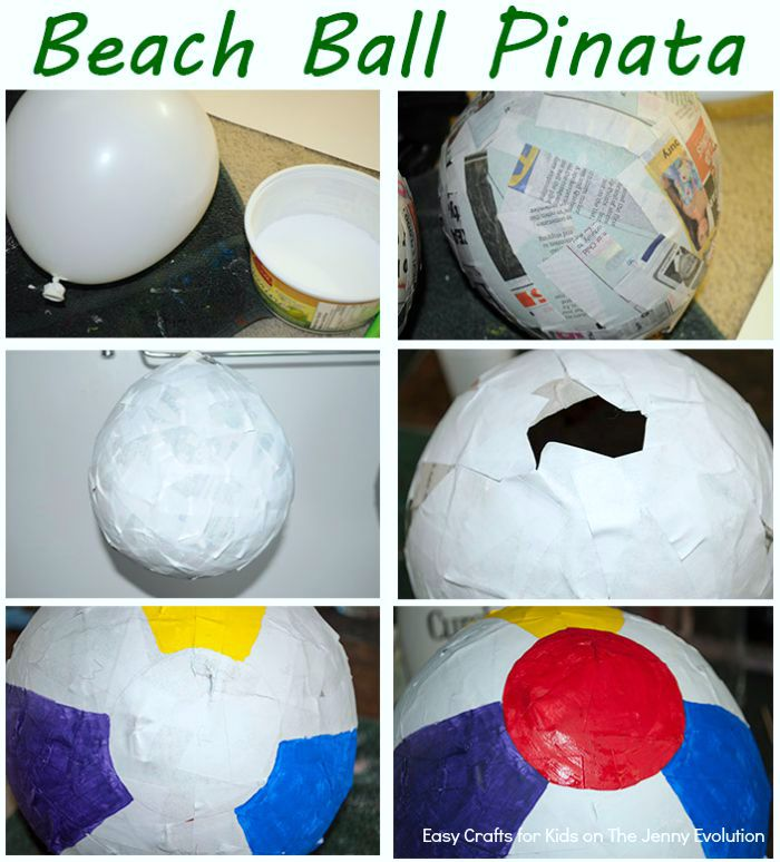 DIY Beach Ball Pinata Instructions - Step by Step