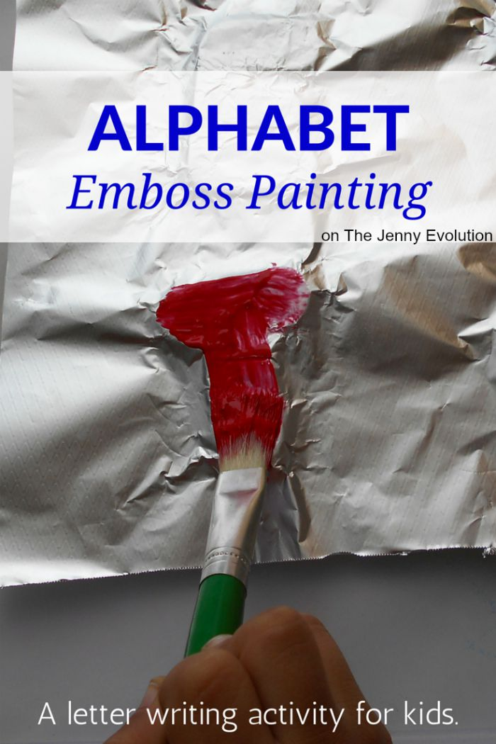 Emboss Painting Activities for Kids | The Jenny Evolution
