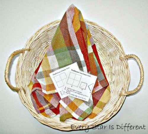 Folding Napkins - Montessori Inspired Picnic Activities