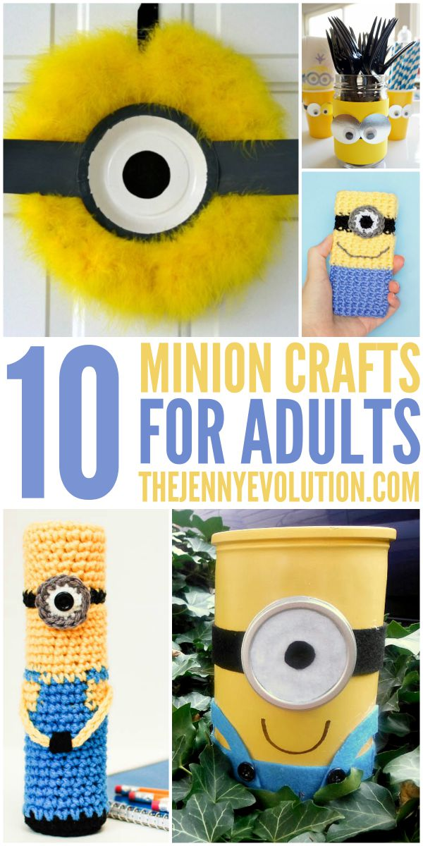 10 Creative Minion Crafts for Adults | The Jenny Evolution