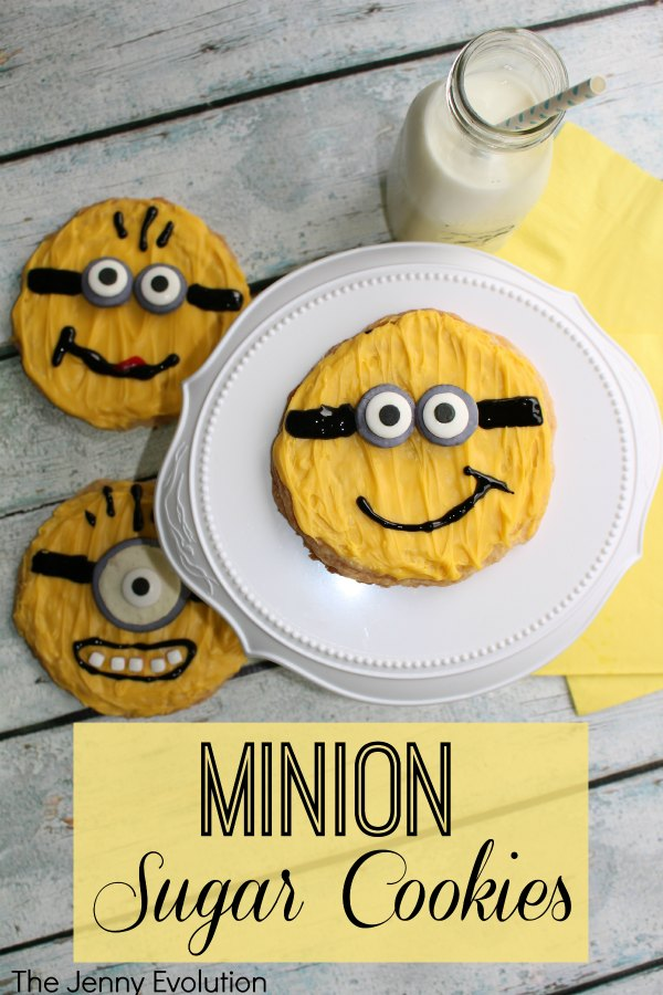 Minion Sugar Cookies Recipe and Tutorial