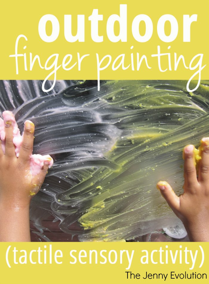 Outdoor Tactile Sensory Finger Painting | Mommy Evolution