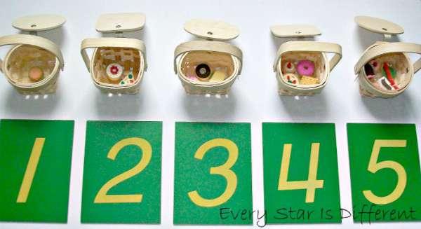 Picnic Basket Number Sorting - Montessori Inspired Picnic Activities