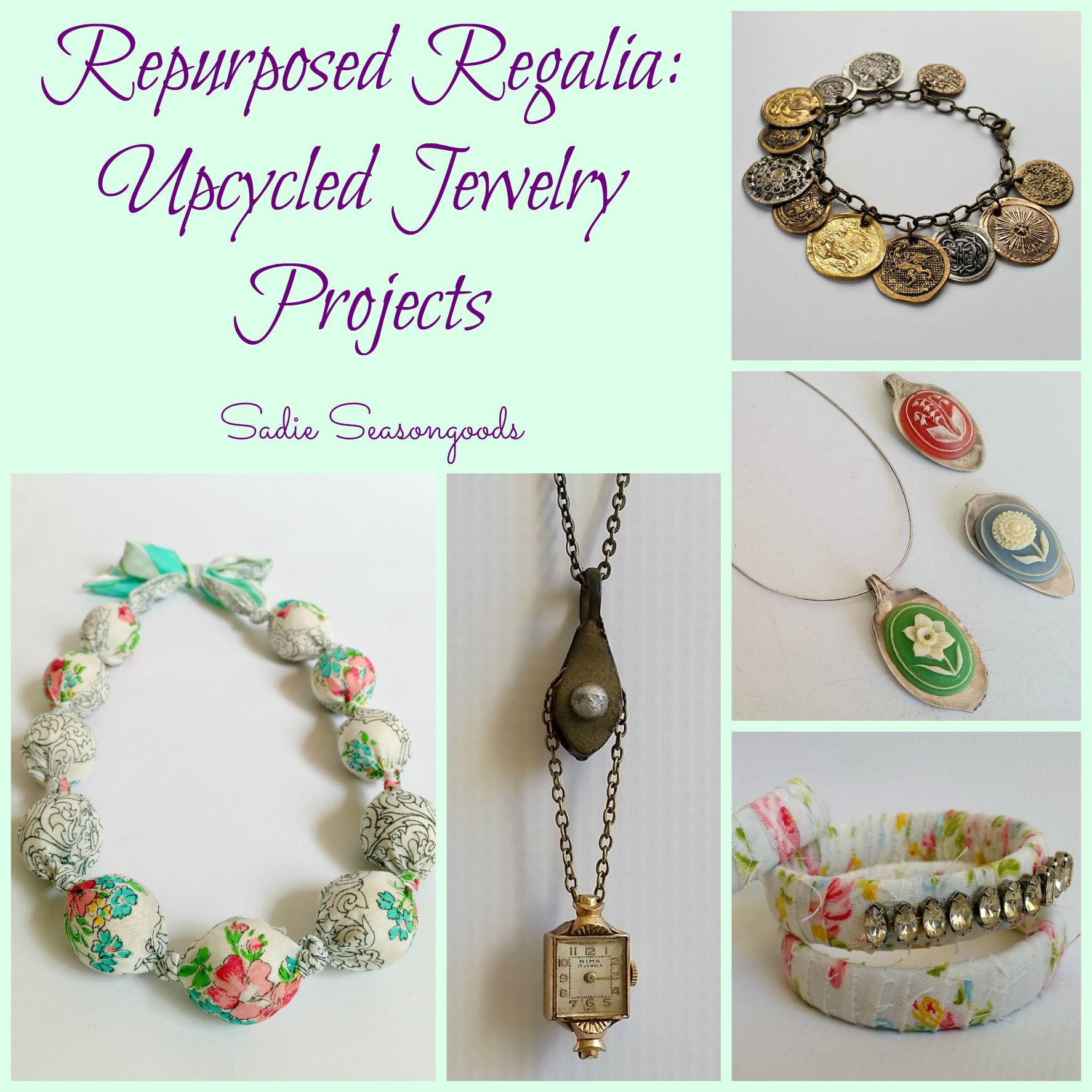 DIY Tutorials Repurposed Regalia: Upcycled Jewelry Projects. Just lovely!