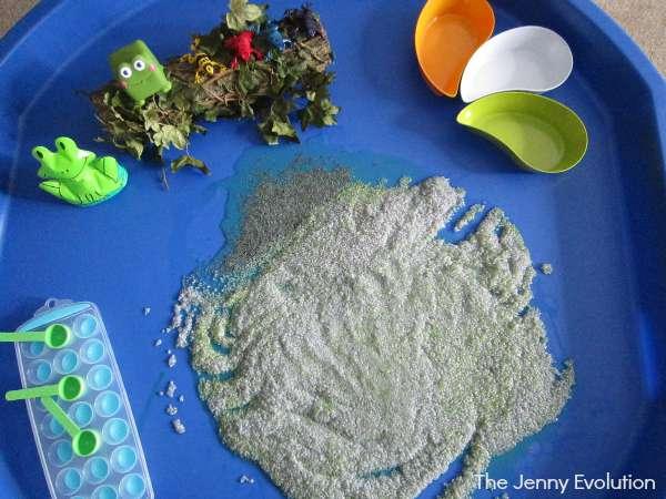 Food Sensory Bin! Basil Seed Sensory Bin Activity | The Jenny Evolution