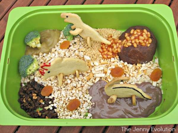 Edible Dinosaur Sensory Play  (Food Sensory Fun) | The Jenny Evolution
