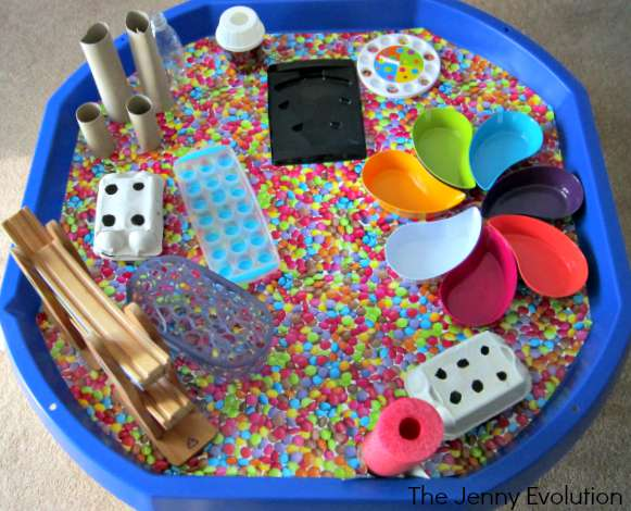 Jelly Bean and Sweets Sensory Bin (Fun Food Sensory Activities) | The Jenny Evolution