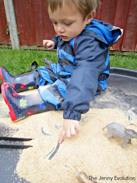 Wheat Flakes Sensory Bin (Sensory Food Activities) | The Jenny Evolution