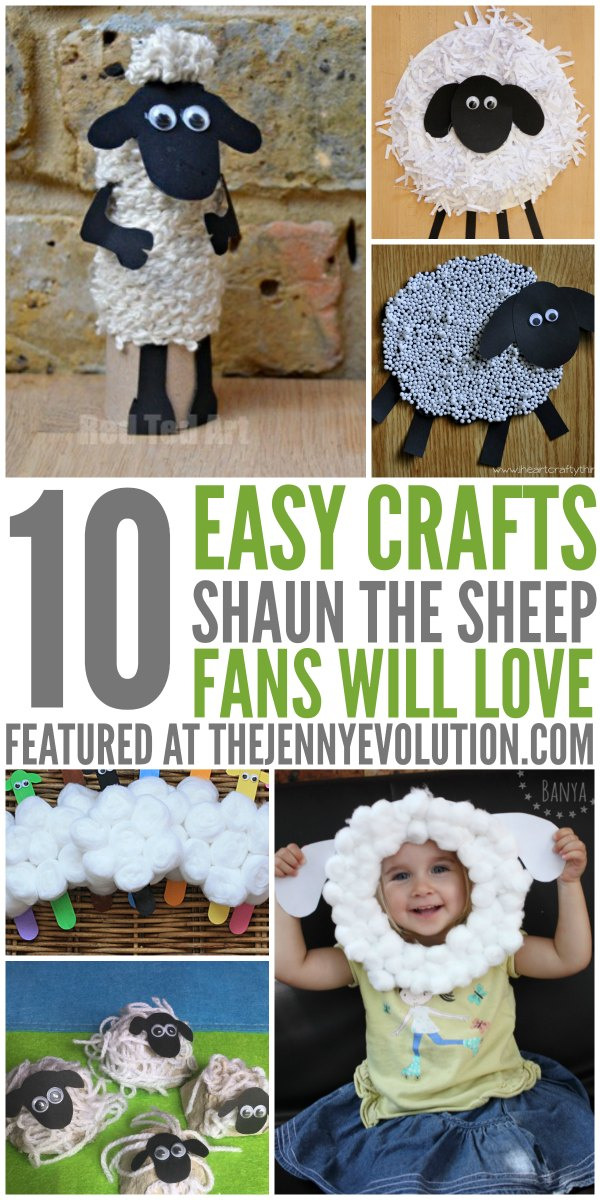 Shaun the Sheep Crafts for Kids | Mommy Evolution