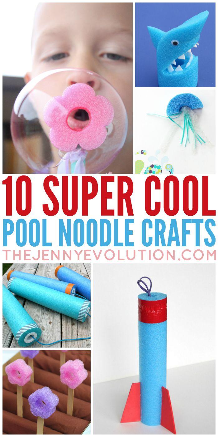 Super Cool Pool Noodle Crafts | Mommy Evolution