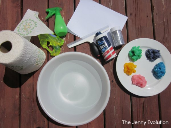 Supplies for Finger Painting