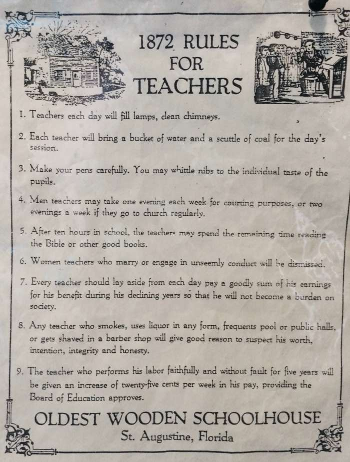 1812 Rules for Teachers