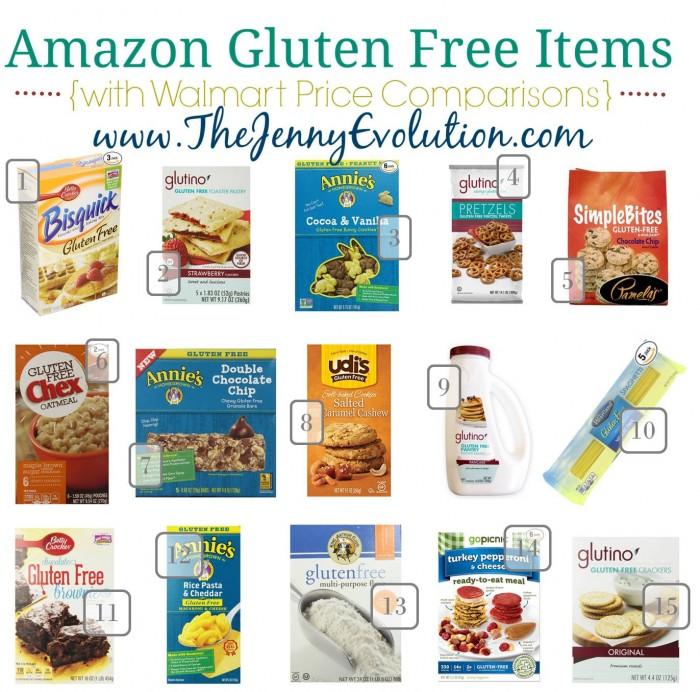 Comparison Prices of Gluten Free Items on Amazon vs. Walmart. Where is it cheaper?