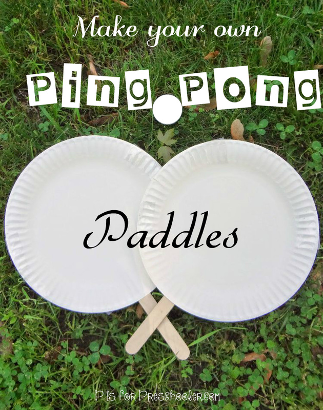 DIY Ping Pong Paddles Tutorial from P is For Preschooler