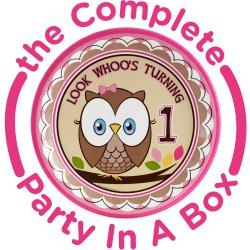 Look Whoo's 1 - Birthday Party Pink Theme