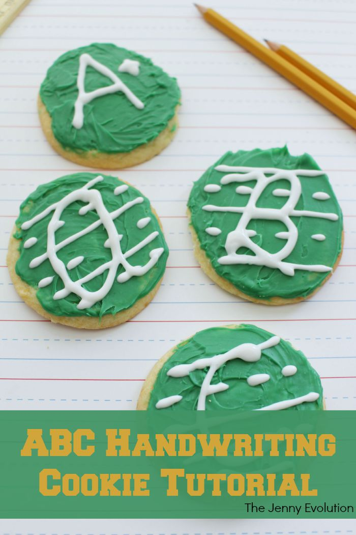 ABC Handwriting Cookie Recipe and Tutorial