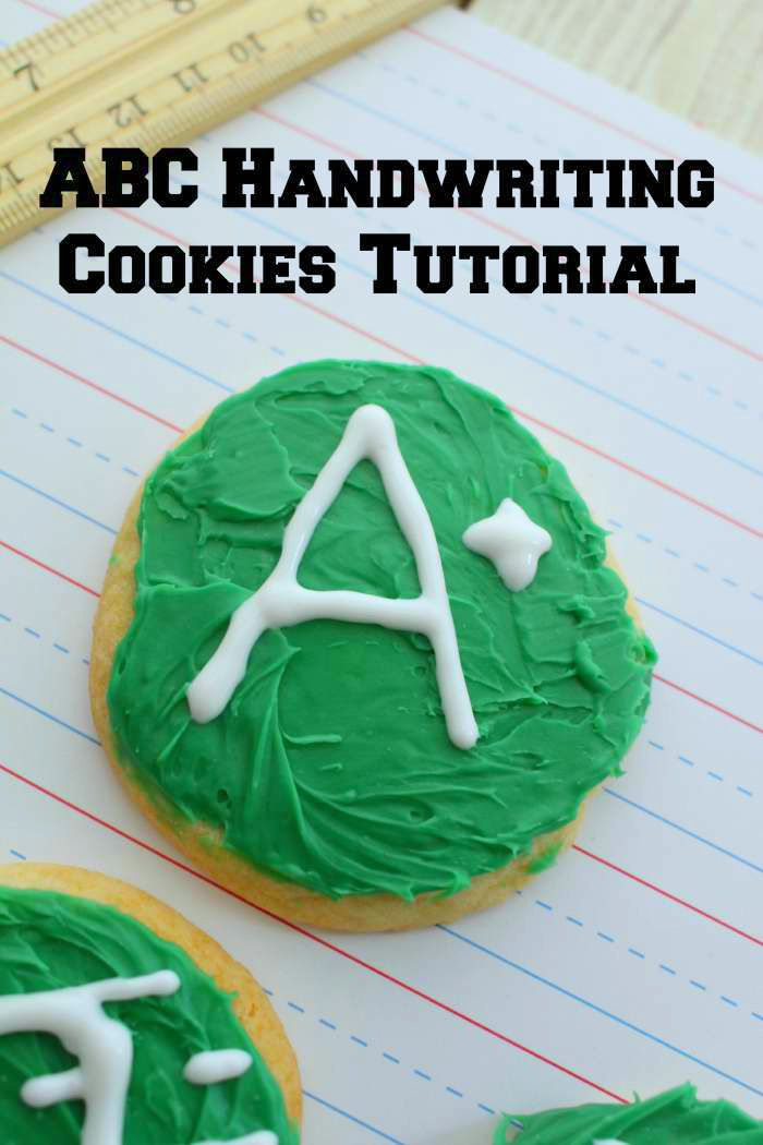 ABC Handwriting Cookies Tutorial