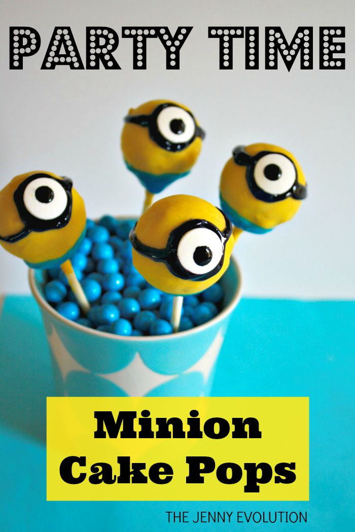 Birthday Party Minion Cake Pops Recipe | The Jenny Evolution