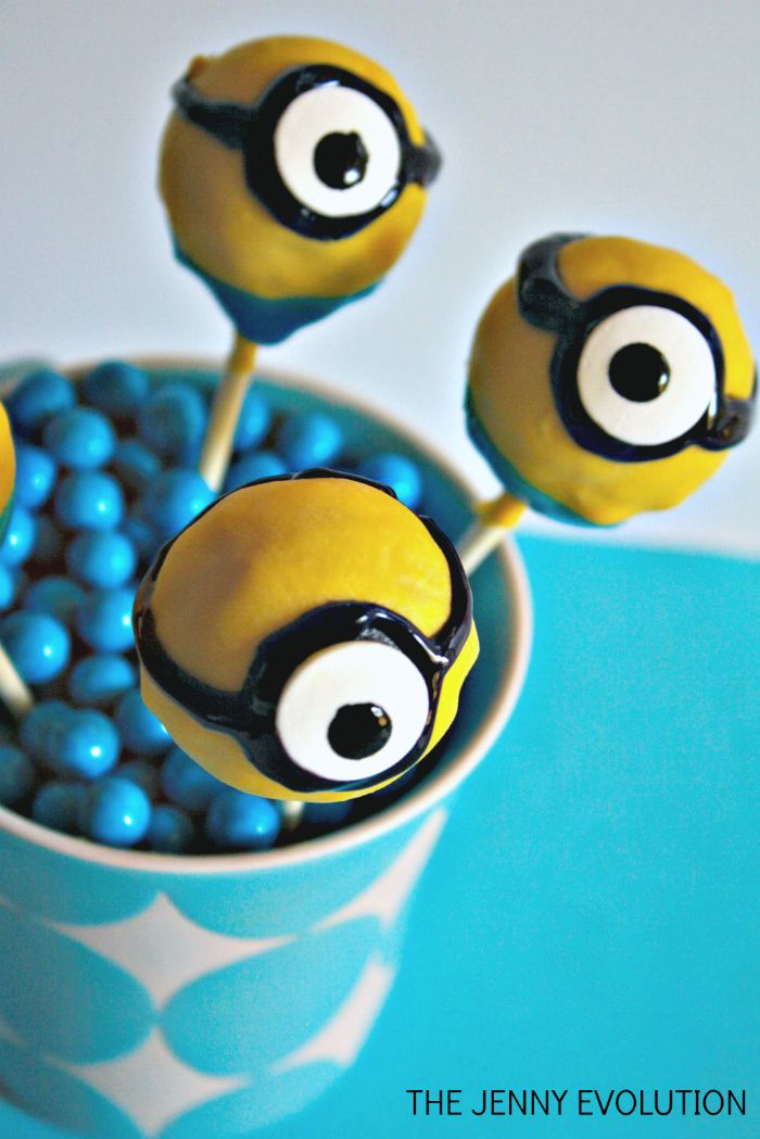 Birthday Party Minion Cake Pops | The Jenny Evolution