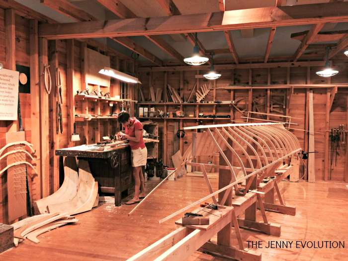 Canoe Artist at The Adirondack Museum