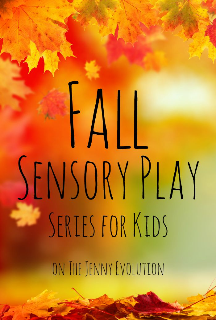 Fall Sensory Play Series on Mommy Evolution. Autumn sensory activities, crafts and ideas for your kids!