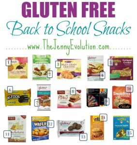 Gluten Free Back to School Snacks | The Jenny Evolution