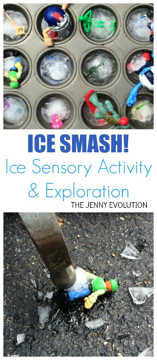 Ice Smash! Ice Sensory Activity and Exploration | Mommy Evolution