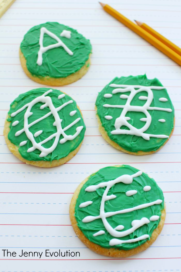 ABC Letter Handwriting Cookies and Tutorial. Perfect for school and teacher gifts!