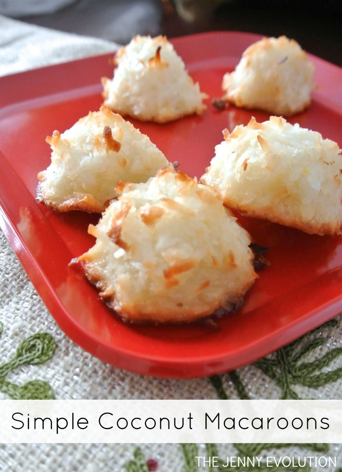 Simple Coconut Macaroon Recipe | The Jenny Evolution