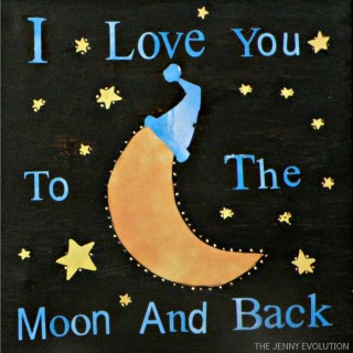 "DIY Baby Room: Make an Adorable Moonlight ""I Love You"" Nightlight Canvas"