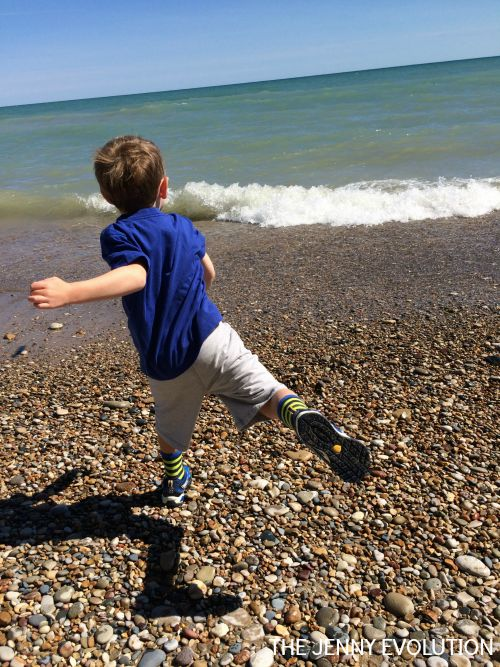 Throwing Rocks at the Beach - Gross Motor
