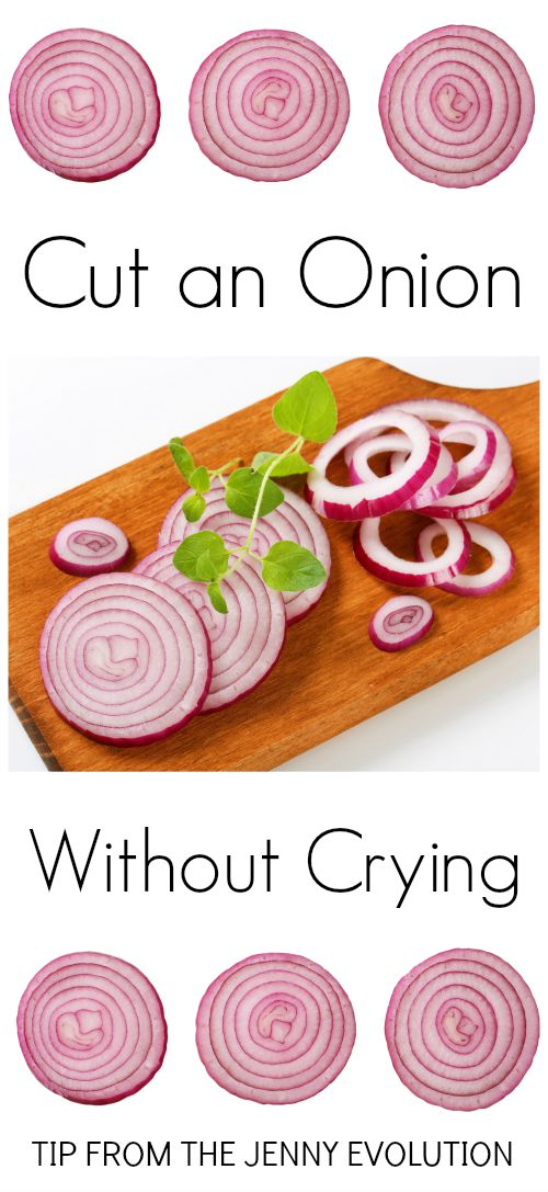 Tip! How to Cut an Onion Without Crying | The Jenny Evolution