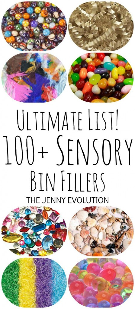 Ultimate List of 100+ Sensory Bin Fillers | Mommy Evolution