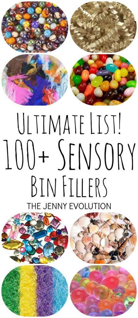 Ultimate List of 100+ Sensory Bin Fillers | The Jenny Evolution